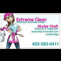 Hire Extreme Clean for cleaning,organization, decor,yard care