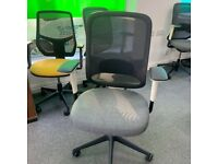Orangebox Do mesh chair, fully adjustable, grey and white