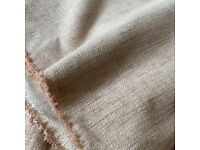 5 metres of upholstery furnishings weight pale salmon pink fabric- curtains? Upholstery?