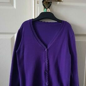 School purple cardigans x3 - 9 years old