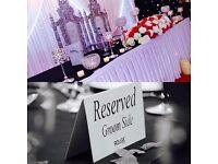 Wedding Decoration, Centrepieces, Head Table, Flower Walls, Flower Arrangements and Event Management