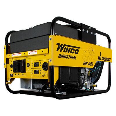 Winco Wl18000ve-03a Portable Generator Big Dog 18000w Briggs Stratton