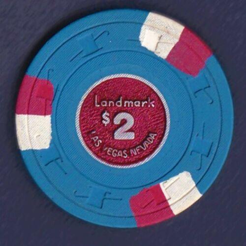 $2 LANDMARK PAULSON METAL CENTER CASINO CHIP, LAS VEGAS, NV N2516 Bicentennial