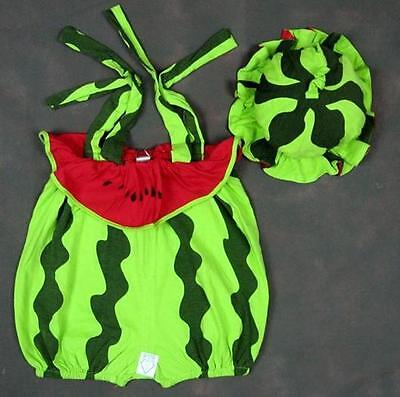 baby boys girls costume 9-24 months WATER MELON romper+hat,Uk seller, - Water Melon Costume