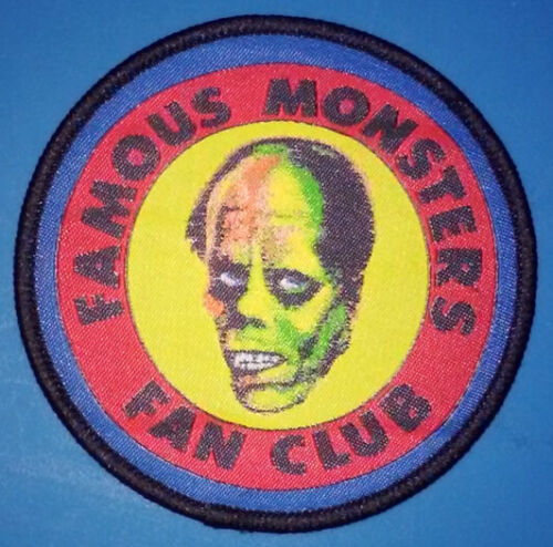 PATCH - Famous Monsters Fan Club - Monster magazine, HORROR - woven / iron-on