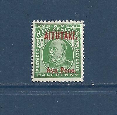 """AITUTAKI - 7 & 22 - MH - 1911-19 - """"AITUTAKI"""" O/P ON NEW ZEALAND STAMPS"""