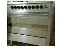 Diplomat 6 ring cooker gas top electric oven
