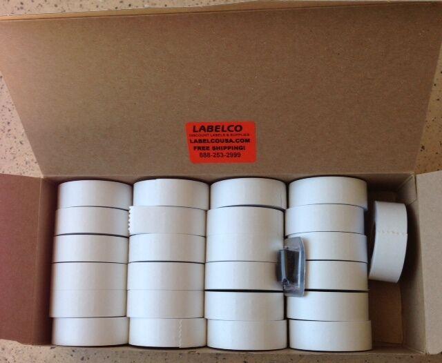 GARVEY 22-6, 22-7 &22-8 *2212 WHITE LABELS *30,000 LABELS *USA MADE*25RLS+1 INK