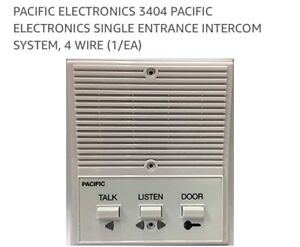 Intercom pacific elsctronics 3404