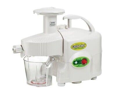 Used, Green Power KPE-1304 TWIN GEAR Masticating Juicer~White~NEW w/ Multi Purpose Kit for sale  Danbury