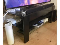 TV stand - glass and black metal