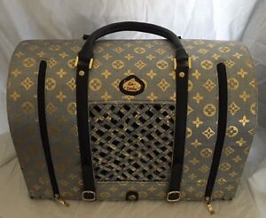 Louis Vuitton-Inspired Dog/Cat carrier by La Dosha West Island Greater Montréal image 6