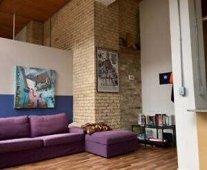 Great loft available Aug. 1. Viewings on Saturday from 3-4:30.
