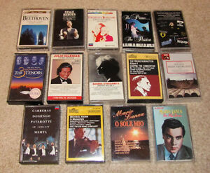 audio cassettes (14 in total)
