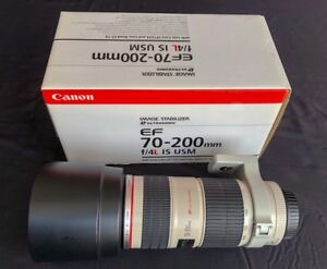 Canon 70-200mm F4 IS USM. Excellent condition.