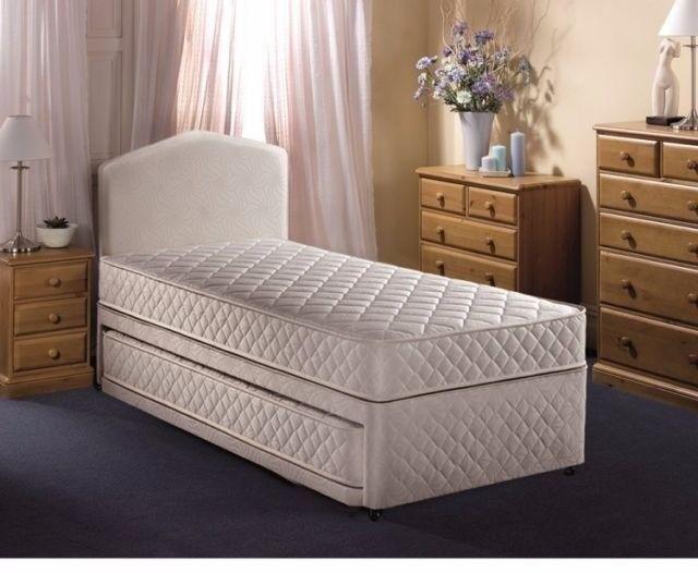 Single Divan Bed Base with 2 storage draws