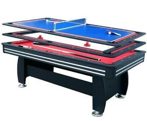 TABLE DE BILLARD 3 EN 1 *** 120,00$ ***  - vente rapide