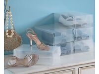 Brand new clear shoe boxes
