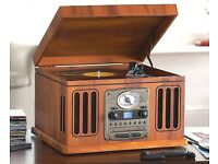 Neostar Record Player Vinyl CD Radio USB Tape Mp3 USB Music Centre TCD-9912C/USB