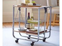 Kitchen and Dining Room Folding Trolley - New and Un-used