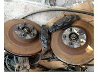 Subaru Impreza sti four pot front brakes!!!!!