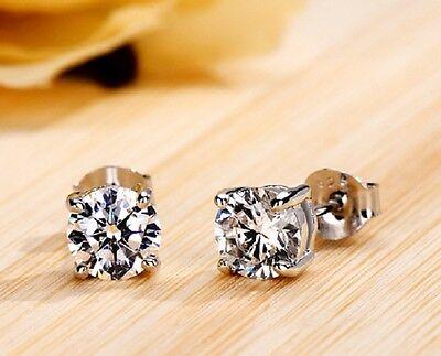 1Ct Diamond,Round Excellent Cut Diamond Earrings, Platinum Hallmarked, Luxury!