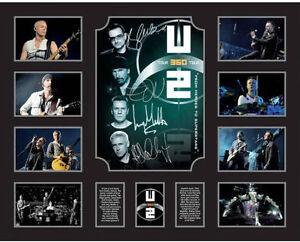 New U2 Signed Limited Edition Memorabilia Framed