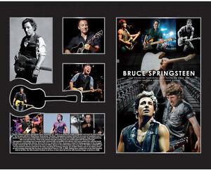 New Bruce Springsteen Signed Limited Edition Memorabilia Framed