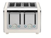 Dualit architect 4 slice toaster cream and steel in colour