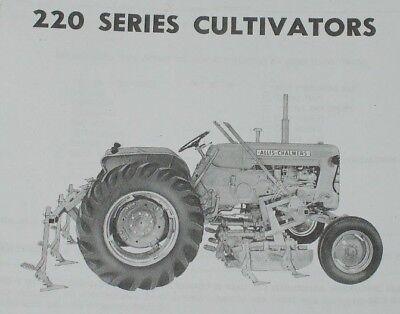 Allis Chalmers Model 220 Series 2 Row Cultivator Operators Parts Manual Ac