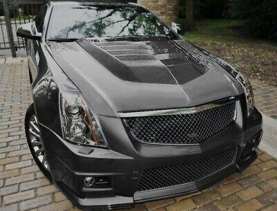 2009-2014 Cadillac CTS-V Matte Black Mesh UPPER and BUMPER Grille