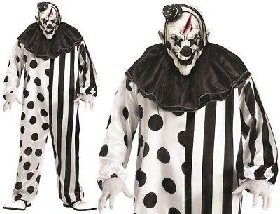 Para Hombre de Halloween Killer Clown Disfraz & Máscara con Gorro Nuevo P