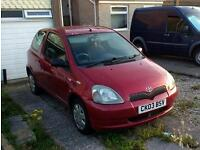 Toyota yaris 1.0vvti colour collection