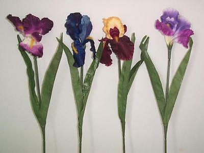Artificial flowers & plants Iris stem w/leaves F93-S1 Planting Iris Flowers