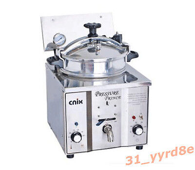16l Commercial Electric Pressure Fryer 50-300c 110v220v