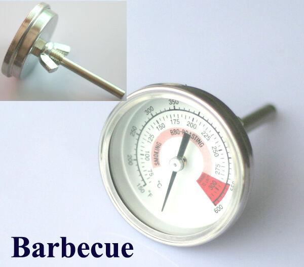 1x Grill Grillen Barbecue Thermometer 300°C Neu