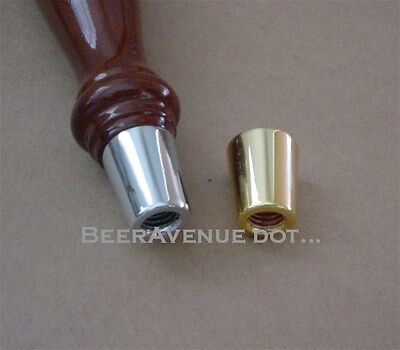 "Chrome Beer tap handle ferrule 5/16"" top 3/8"" bottom - NEW"