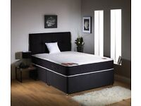 *BIG SALE* - DOUBLE DIVAN BED WITH MEMORY FOAM MATTRESS - EXPRESS DELIVERY