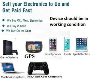 we buy new and used Electronics .cellphone tv laptop macbook