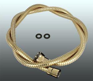 150cm Metall Brauseschlauch Gold Design + Verdrehschutz