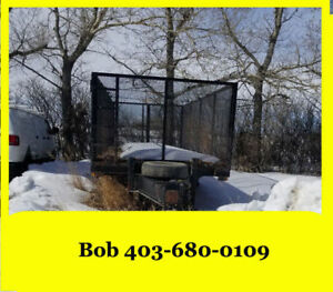 2011 20ft Heavy Duty T/A Cage Trailer w/ Ram  ****CALLS ONLY****