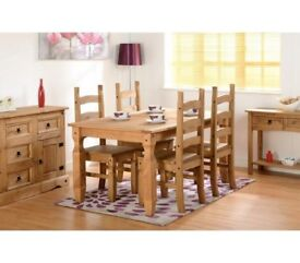 CORONA 5FT DINING SET WITH 4 CHAIRS
