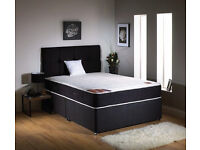 QUALITY BLACK SPENCER COMPLETE BED**NEW**FREE HEADBOARD £149