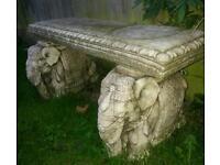Stone elephant seat/ bench for garden /patio