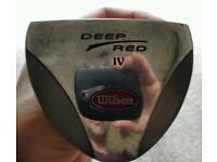 Wilson deep red IV putter