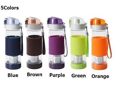 5 Colors One-Touch Tea Maker Bottle Tumbler Coffee Eco BPA Free Green Tritan N_o