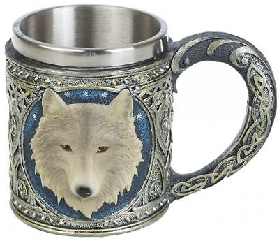 Krug Bierkrug Wolf Wölfe Gothic Fantasy Halloween Trinkgefäß WO124