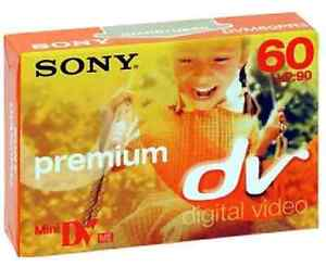 5 SONY MINI DV TAPES FOR CAMCORDERS JVC  ETC