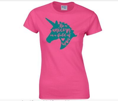 Be a Unicorn in a Field of Horses Adult Tshirt Many Colors Sizes S, M, (Be A Unicorn In A Field Of Horses)