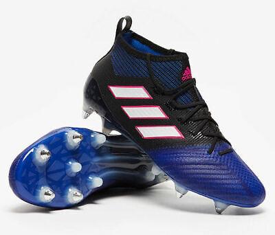 Adidas Ace 17.1 Primeknit SG Boots - Black/Blue (BA9820)